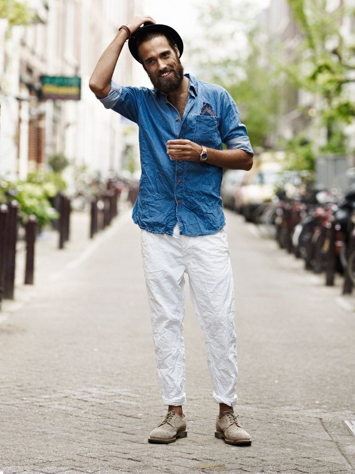 How To Wear White Jean For Men Mikado