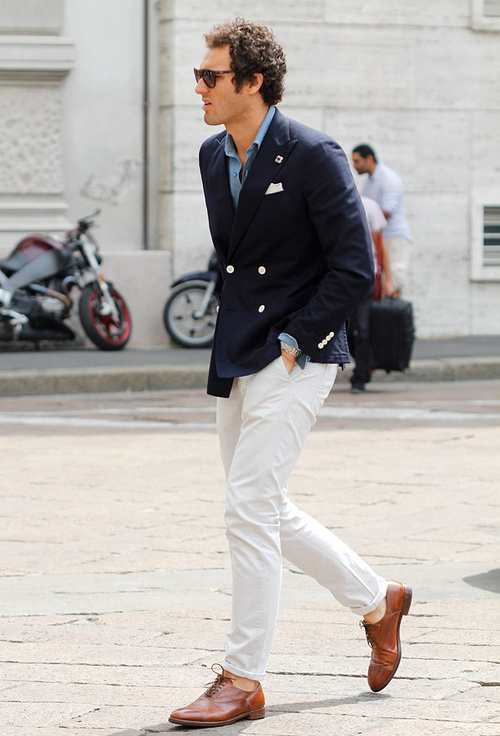 MiKADO - How to Wear White Jean for Men