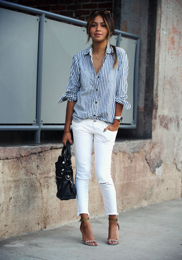 How to Wear White Jeans for Summer 2016 I MiKADO